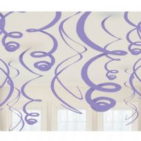 Purple Plastic Swirl Decorations (12)
